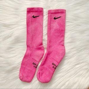 Nike Hot Pink Tie Dye Socks